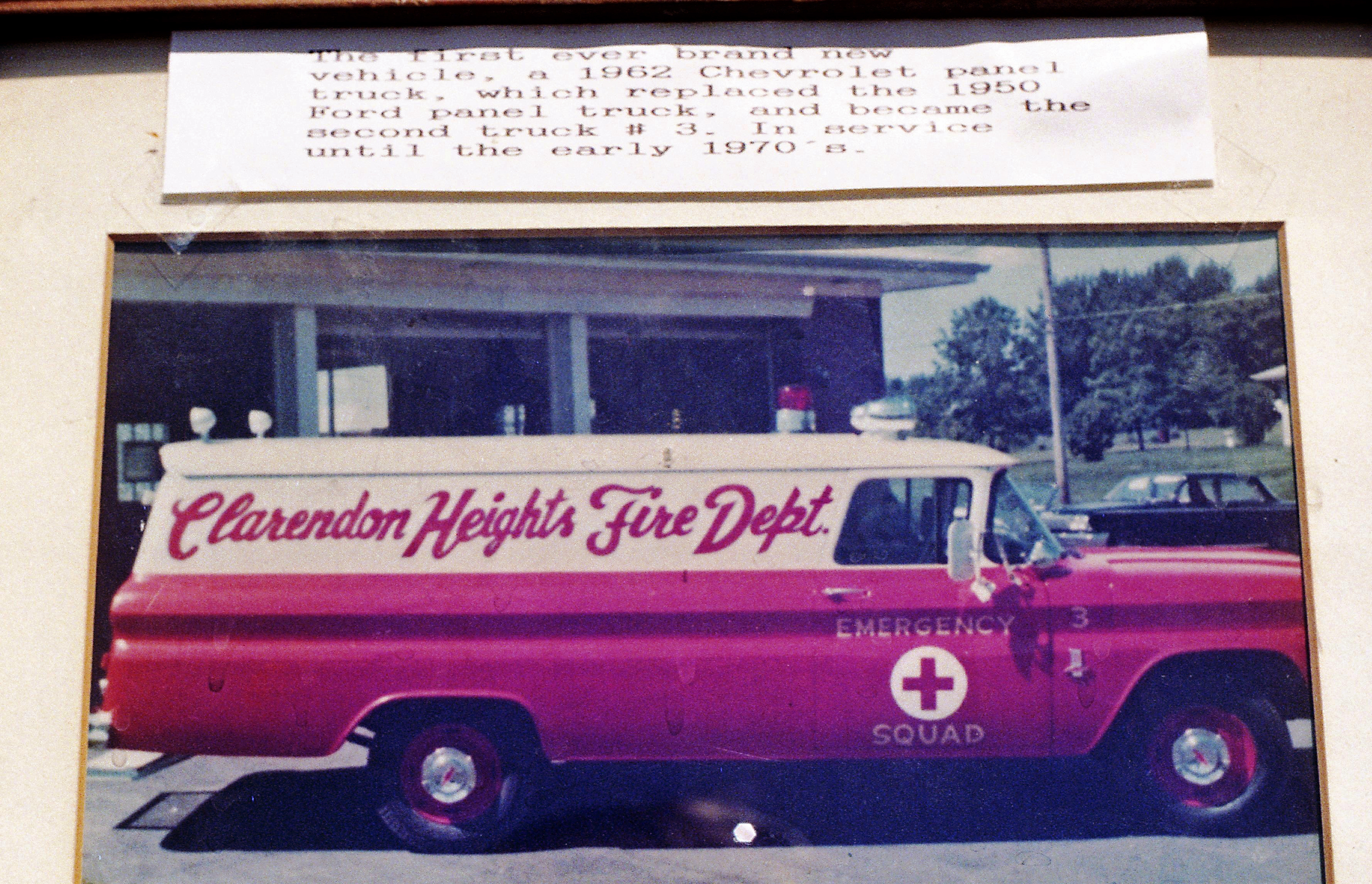 CLARENDON HEIGHTS 1962 CHEVY PANELVAN FIRST EMERGENCY SQUAD