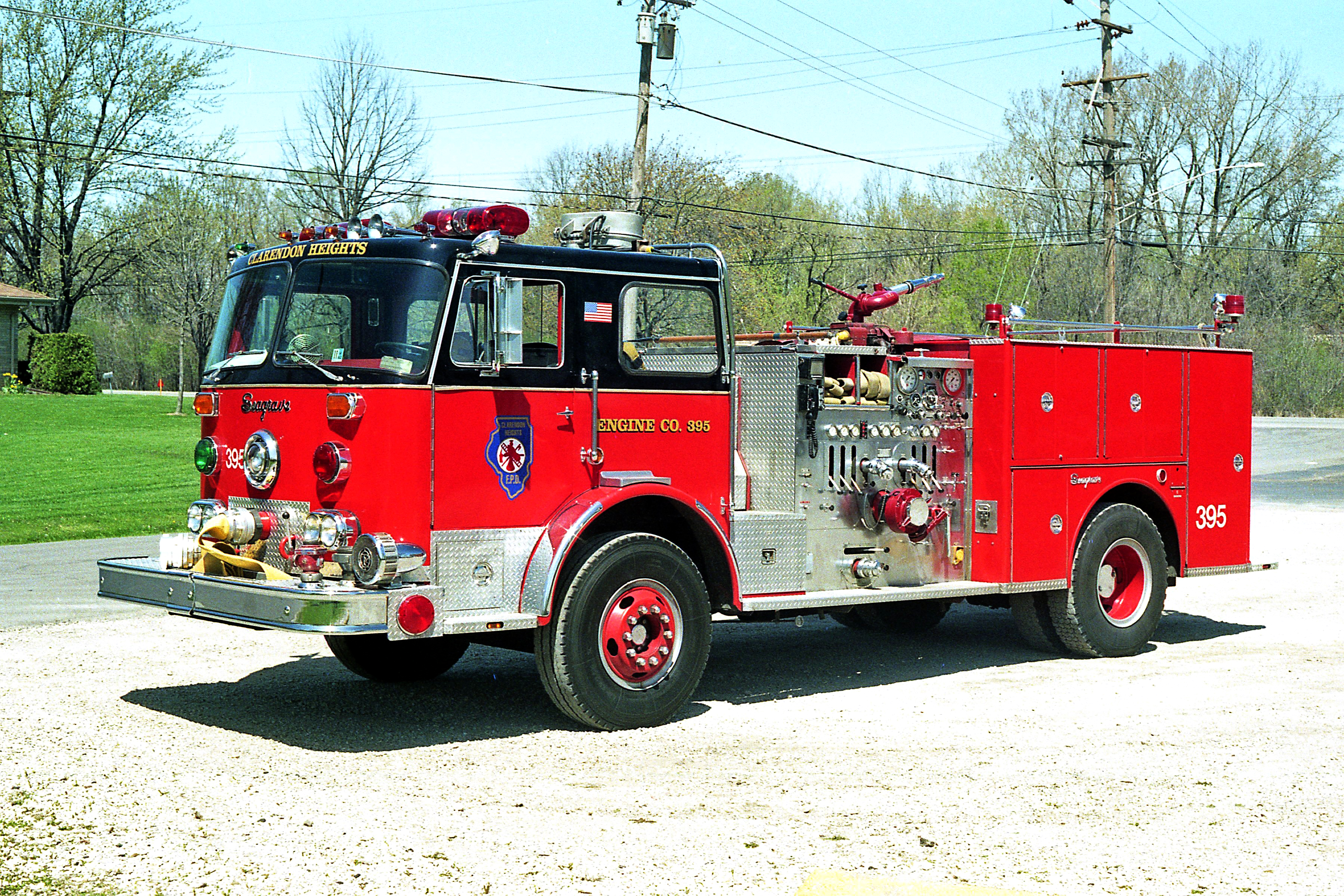CLARENDON HEIGHTS ENGINE 395 1975 FWD-SEAGRAVE 1500-5000 #73395 X- WHEATON FD