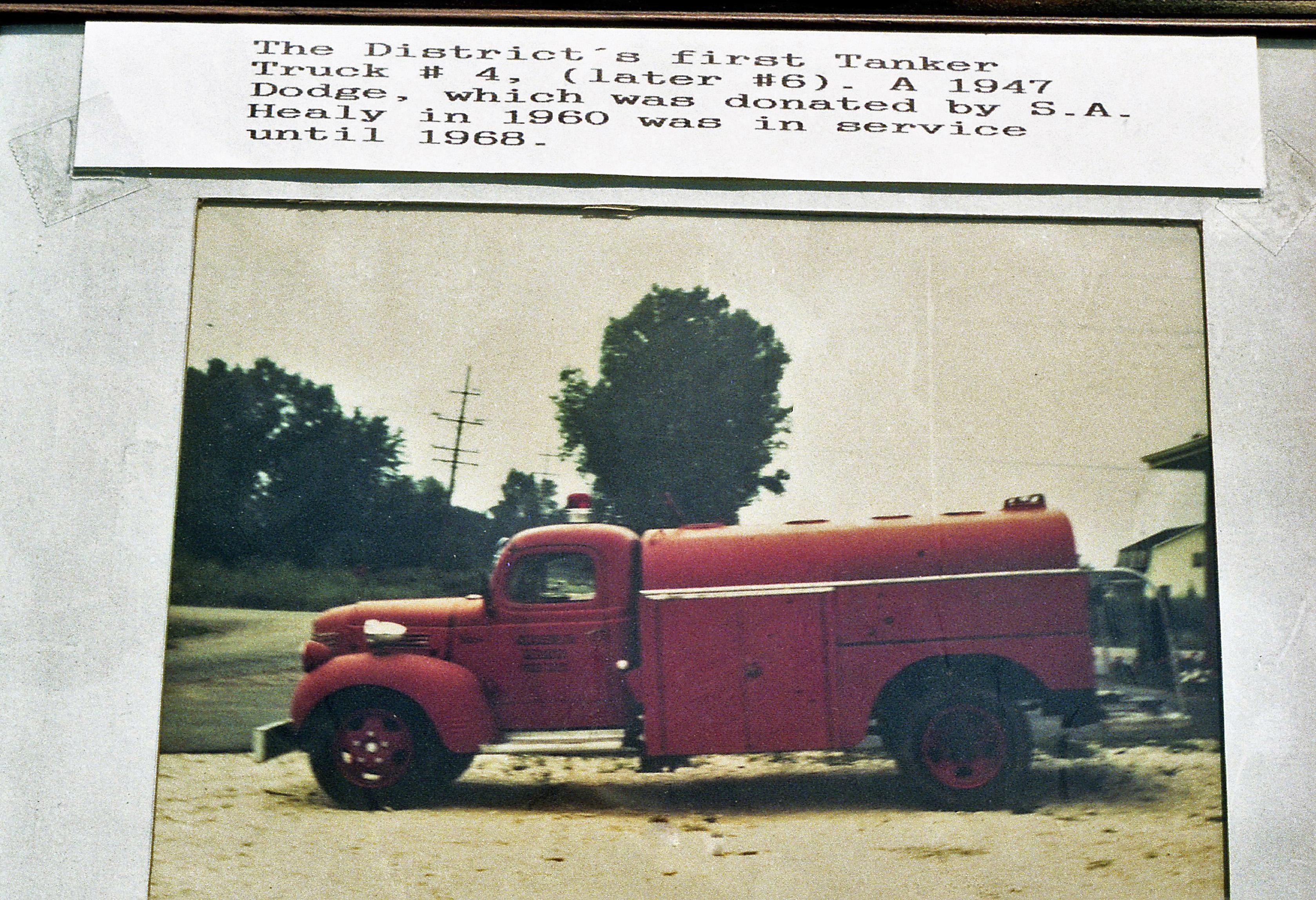 CLARENDON HEIGHTS TANKER 1947 DODGE - FD BUILT FIRST TANKER